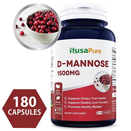 (D-Mannose 1500mg 180 Capsules (Non-GMO & Gluten Free) Supports Urinary Tract Health, Promotes The Body's Natural Cleansing Process - 100% Money Back Guarantee Order Risk Free!)