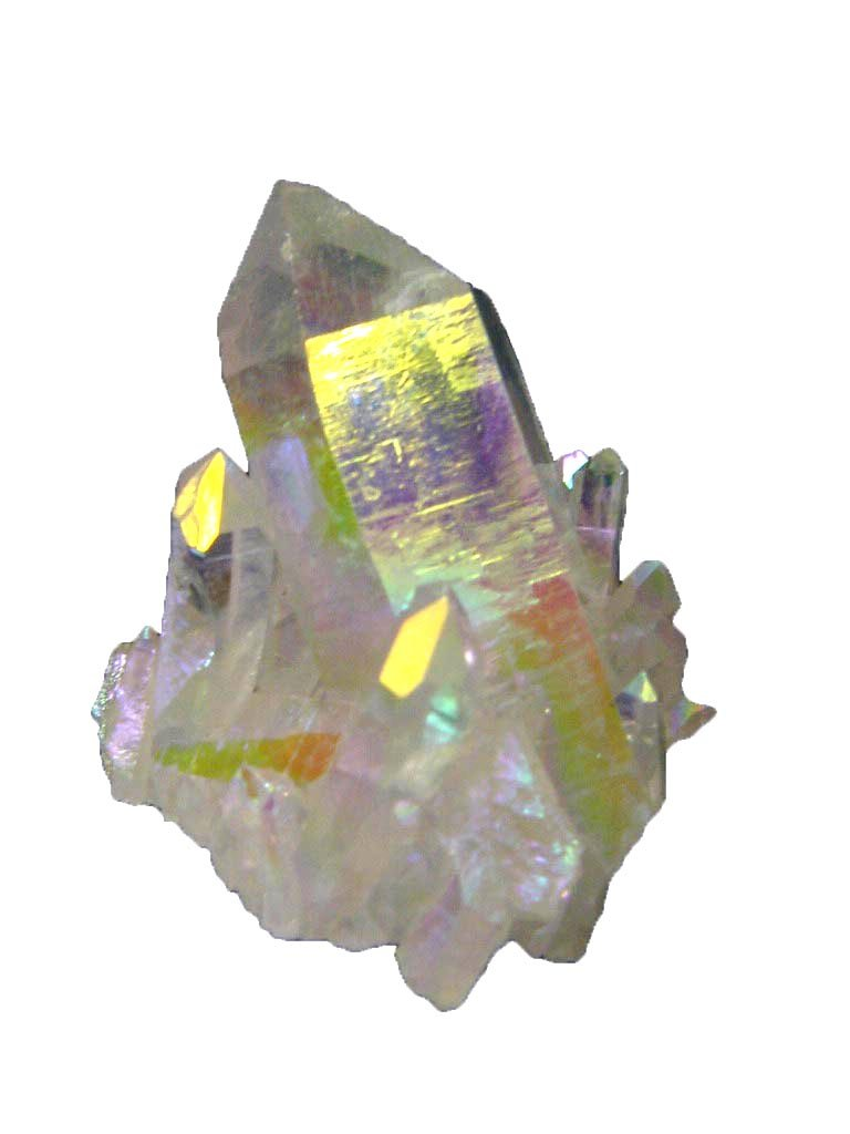 Angel Aura Fume Plated Natural Raw Quartz Healing Crystal Cluster Reiki Activated