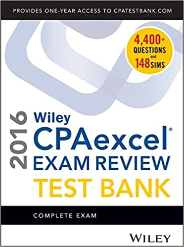 Wiley cpaexcel exam review 2016 test bank complete exam o ray wiley cpaexcel exam review 2016 test bank complete exam 21st edition fandeluxe Image collections