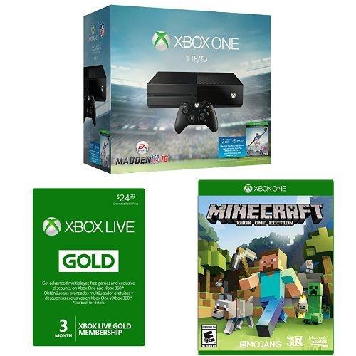 Xbox One 1TB Console Madden Minecraft