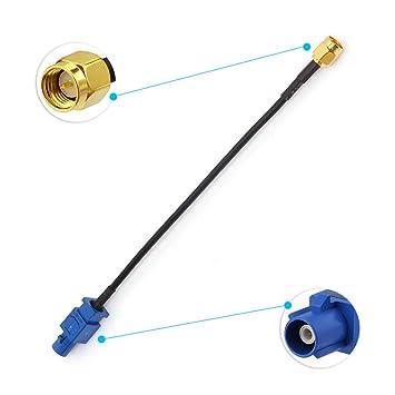 Eightwood Adaptador de Antena GPS Fakra C a SMA Conector Pigtail Cable RG174 15cm 6 Pulgadas