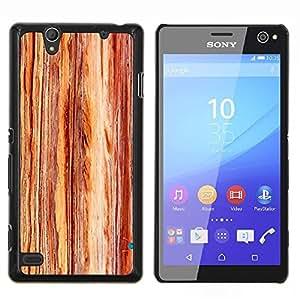 Stuss Case / Funda Carcasa protectora - Grano Textura vertical de Brown - Sony Xperia C4