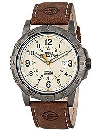 Timex Expedition reloj de metal resistente, Marrón/Natural