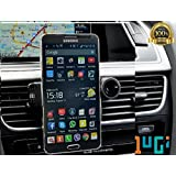 Cell phone Cellphone Mount Holder Cradle Vent Mounts by CJS Dash Mate TM. Fits Most Cars - Trucks - works great For all Iphones 6 5 4 and it is Universal For Smartphones Galaxy 6 5 4 3 2 from 2.5 to 3.5 inches in width.