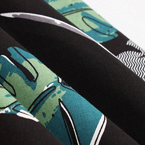 Noir et iBaste Audrey Manches Soire Imprim Robe Vintage Vert 1950s de Cocktail qzqfFv