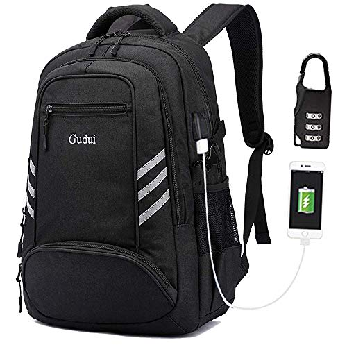 KOLAKO Business Laptop Backpack, Waterproof Casual Hiking Travel Daypack, Anti-Theft Durable College Computer Backpacks Bookbag with USB Charging Port for Men/Women, Fits 15.6 inch Laptop and Tablet ()