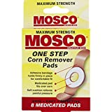 Mosco One-Step Medicated Corn Remover Pads | Maximum Strength | 8-Count per Pack | 1-Pack