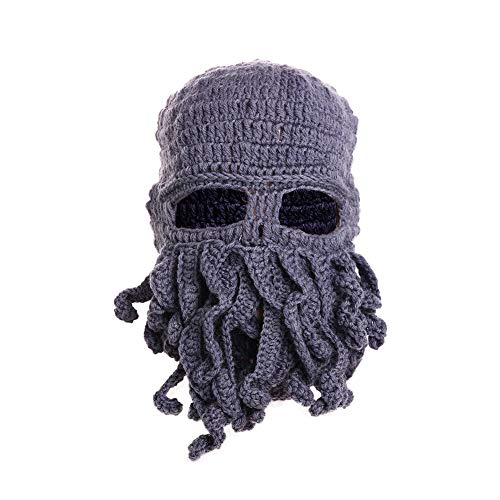 Tentacle Octopus Cthulhu Knit Beanie Hat Fisher Cap Wind Ski Mask (One Size, ()