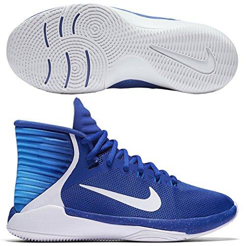 Image of NIKE Kid Prime Hype DF 2016 (GS) Basketball Shoe (6 Big Kid M, Game Royal/White-Photo Blue)