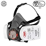 Force 8 Half Mask Respirator Complete with PressToCheck P3 Filters