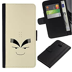 A-type (Cara graciosa) Colorida Impresión Funda Cuero Monedero Caja Bolsa Cubierta Caja Piel Card Slots Para HTC One M8