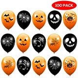 Arts & Crafts : THE TWIDDLERS 100 Latex Halloween Party Balloons – Orange & Black - Perfect Decoration for Parties –
