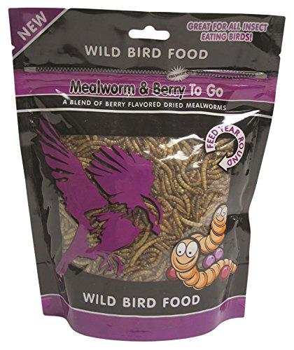 UNIPET USA WB157 Mealworm and Berry To Go Wild Bird Food, 3.52 oz Berry Wild Bird Food