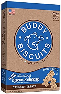 product image for Cloud Star Itty Bitty Buddy Biscuits Dog Treats, 8oz Box, Bacon & Cheese (Packaging may vary)