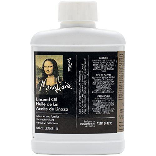 Linseed Oil Stand - Speedball 8-Ounce Mona Lisa Linseed Oil