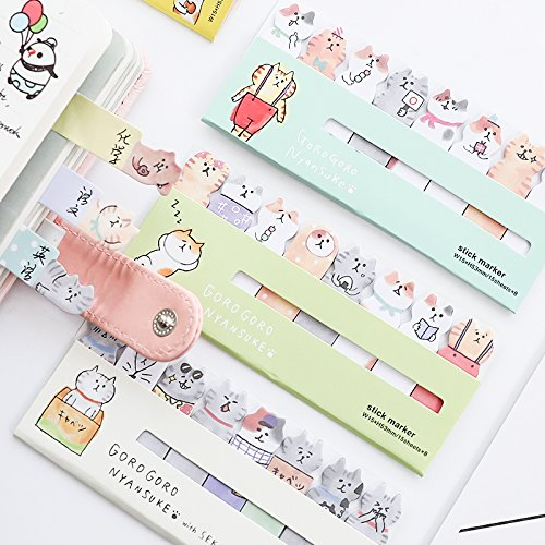 Best Quality - Memo Pads - pcs/Lot Cat memo Notes Cartoon Kitties Index Post Stickers Scrapbook Stationery Office Accessories School Supplies A6881 - by PPL21-1 PCs