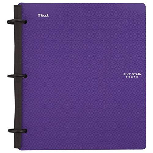 Five Stars híbrido Flex NoteBinder Encuadernador de apuntes, 2.5cm, Púrpura Royal, 1 paquete