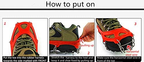 Toasis Ice Grips Snow Spike Crampons Traction Cleats Grippers for Shoes