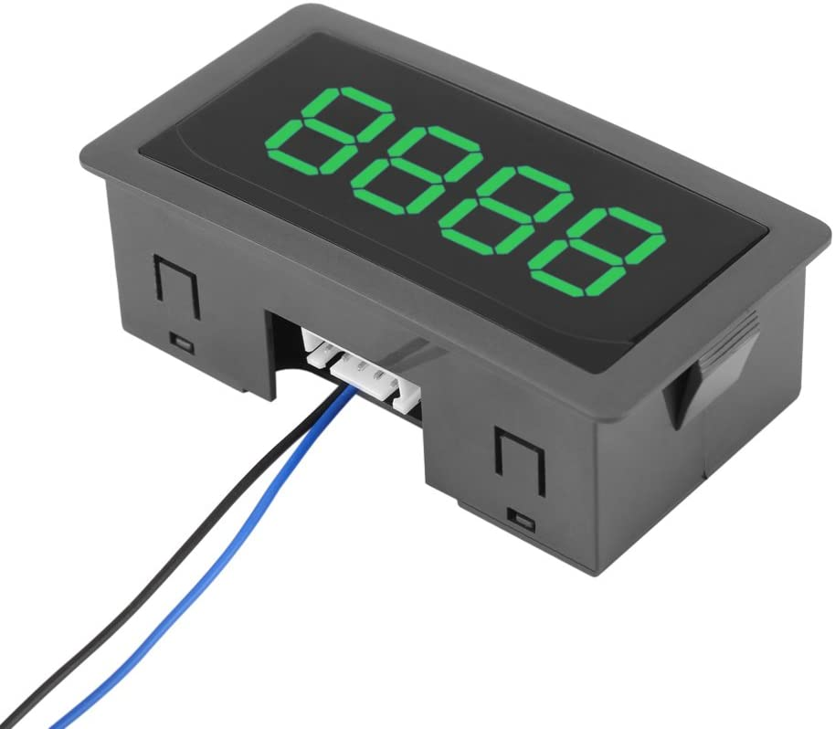 DC 24//12V 4 Digital Green LED Counter Panel Meter Plus Up and Minus Down 0-9999