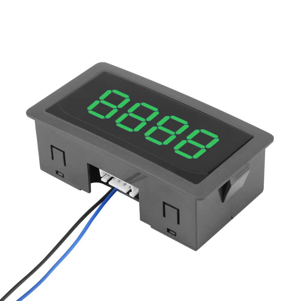 Digital LED-Z/ähler,hohe Genauigkeit Panel Meter Leuchtend LED DC-LED-Digitalanzeige 4-stellig 0-9999 Up//Down Plus//Minus Panel Z/ähler Meter 4-stellige mit Kabel gruen