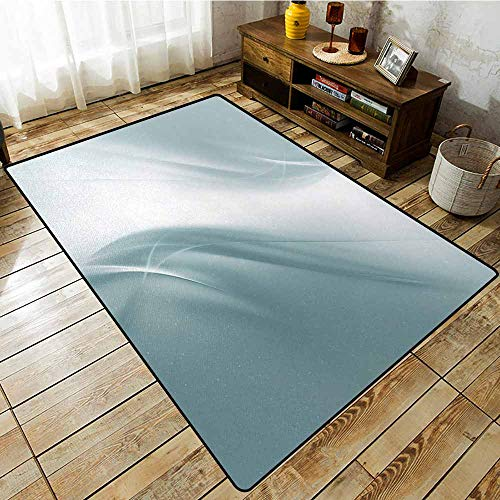 Rectangular Rug,Grey,Soft Abstract Digital Print Design Pure Concept Style Artsy Urban Modern Decorative Home,for Outdoor and ()