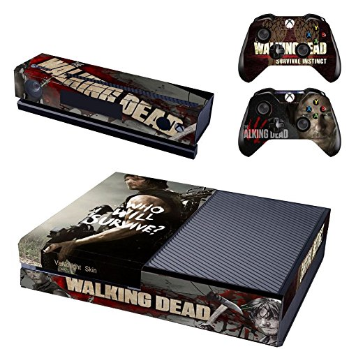 Vanknight-Vinyl-Decal-Skin-Sticker-Cover-The-Walking-Dead-Daryl-Dixon-for-Xbox-One-Console-Kinect-2-Controllers