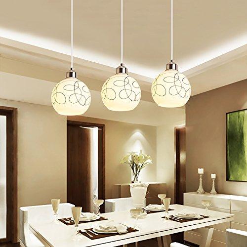 Luminaire Suspendu Moderne Simple Suspension Moderne Mode Suspension Simple Pour Salon Chambre Chambre Lampe Lustres Restaurant Lustre Trois Tête Pendentif Lumières
