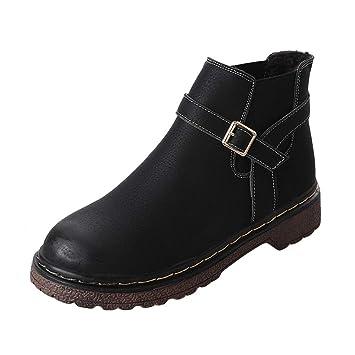 LuckyGirls Mujer Botas Hebilla Botitas Moda Zapatos Botas de Nieve Calzado: Amazon.es: Deportes y aire libre