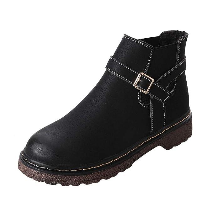 DENER  Damens Ladies Stiefel, Fashion Winter Ankle Stiefel, Ladies Buckle Straps a2bb97