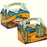 Let's Go Camping Empty Favor Boxes (4 count) Party Accessory, Health Care Stuffs