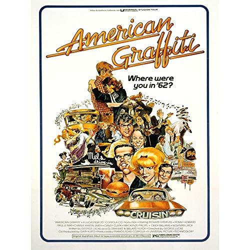 Wee Blue Coo Advertising Movie Film American Graffiti Cult Lucas Unframed Wall Art Print Poster Home Decor Premium