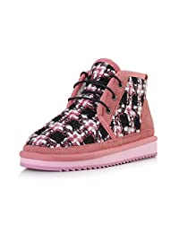 Ladies winter snow boots thicking plaid short boots ( Color : A , Size : US:5\UK:4\EUR:35 )