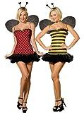 Dreamgirl Women's Reversible Bumble Bee/Lady Bug Costume, Multi, Medium