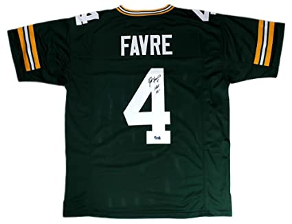 on sale 0f7a7 f92af Amazon.com: Brett Favre Signed Green Bay Custom Home Green ...