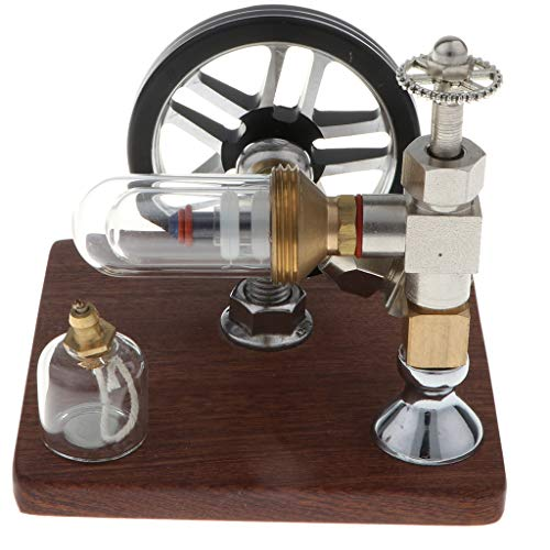 Flameer Mini Hot Air Powerful 200-500RPM Adjustable Free Piston Stirling Engine Model Toy Mechanism Device Collection Gift