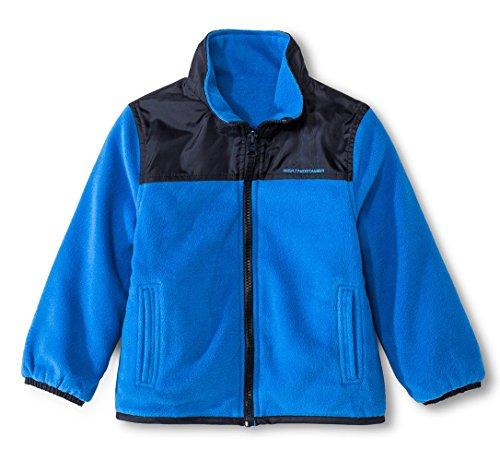 Weather Tamer Toddler/Little Boys Reversible Fleece Jacket (3T, Blue)