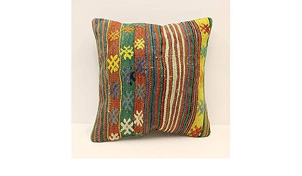 Kilim Pillow Cover Kilim Pillow 16x16 Cushion Cover White,Burnt Orange Decor Pillow Cover Plum Turkish Kilim Pillow Decorative Pillow Red