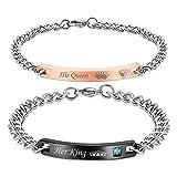 NEHZUS Womens Mens Bracelets,Couples Stainless Steel Bracelet,Best Gift Ideas
