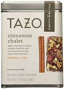 Tazo Cinnamon Chalet, Caffeine-Free Tea, 1 Pack with 15 Full-Leaf Sachets