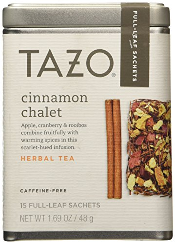 Tazo Cinnamon Chalet, Caffeine-Free Tea, 1 Pack with 15 Full-Leaf Sachets - Full Leaf Tazo Tea