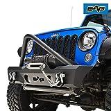 EAG Stinger Front Bumper W/Fog Light Holes for 07-18 Jeep Wrangler JK