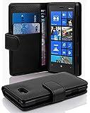 Cadorabo Hülle für Nokia Lumia 820 - Hülle in OXID SCHWARZ – Handyhülle mit Kartenfach aus struktriertem Kunstleder - Case Cover Schutzhülle Etui Tasche Book Klapp Style