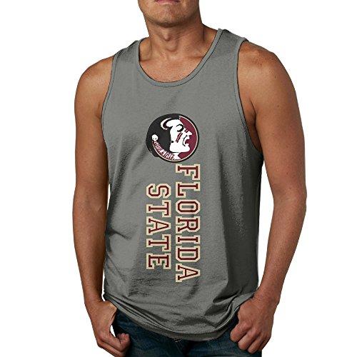 Boxer98 Men's Summer Florida State Seminoles Football Tank Tops DeepHeather XXL
