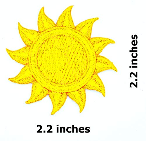 (Sun Sunshine Summer (Yellow&Orange) Cartoon Children Kid Patch Clothes Bag T-Shirt Jeans Biker Badge Applique Iron on/Sew On Patch)