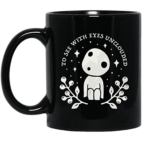 Little Princess Ceramic - Too See With Eyes Unclouded | Kodama Princess Mononoke Inspired Tea Mugs & Coffee Cups