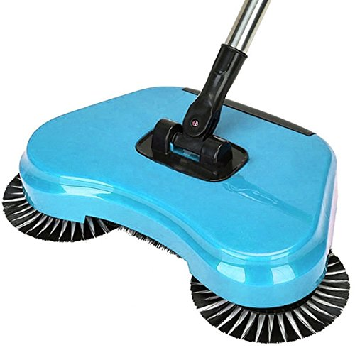 KANG--Spin Hand Push Broom Household Floor Dust Cleaning Sweeper Mop No Electricity