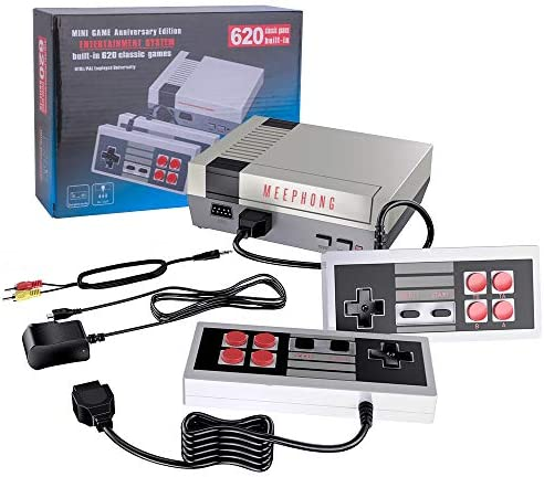 MEEPHONG Retro Game Console, AV Output NES Console Built-in Hundreds of Classic Video Games