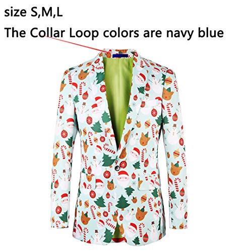 Print Halloween Brand Blazer Mens Fancy Blazers Males Jacket Stylish 3 Suits Floral 5pWvw