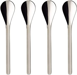 Coffee Passion Coffee Spoon Set of 4 by Villeroy & Boch - 18/10 Stainless Steel - Dishwasher Safe - 5.5 Inches