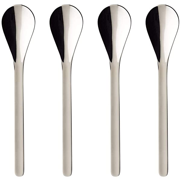 Dishwasher Safe 4 Inches 18//10 Stainless Steel Coffee Passion Espresso Spoon Set of 4 by Villeroy /& Boch